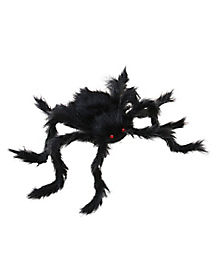 Jumbo 50 inch Black Poseable Spider