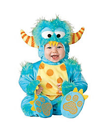 Lil Monster Baby Costume with Faux Fur