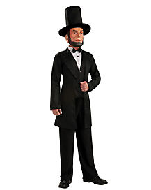 Adult Masked Abe Lincoln Costume
