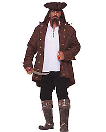 Adult Captain Pirate Plus Size Costume