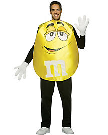 M&M Yellow Poncho Adult Costume