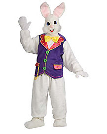 Adult Bunny with Vest Mascot Costume