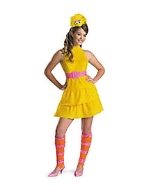 Tween Big Bird Dress Costume - Sesame Street