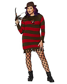 Miss Freddy Krueger Adult Womens Plus Size Costume