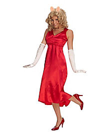 Adult Miss Piggy Costume Deluxe - Muppets