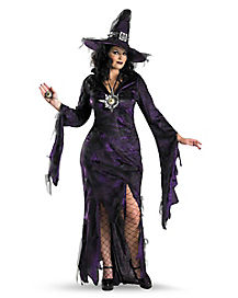 Adult Womens Plus Size Sorceress Witch Costume