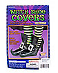 Silver Buckle Adult Witch Shoe Covers