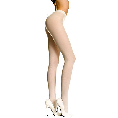 Opaque White Adult Plus Size Stockings
