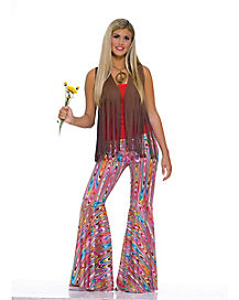 Adult Psychedelic Bell Bottom Pants