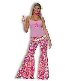 Bell Bottom Adult Womens Pants