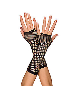 Mini Dimaond Net Black Child Gloves