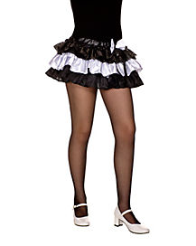 Mesh Black and White Mirror Pettiskirt
