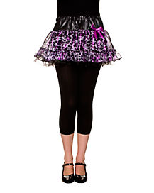 Purple Leopard Pettiskirt