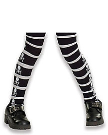 Skull and Crossbone Child Tights