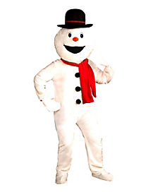 Adult Jolly Snowman Mascot Costume