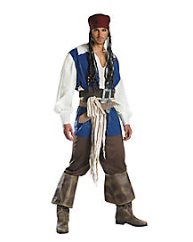 Adult Captan Jack Sparrow Costume - Pirates of the Caribbean