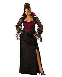 Adult Midnight Vampiress Plus Size Costume