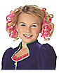Kids Pink Curly Clips