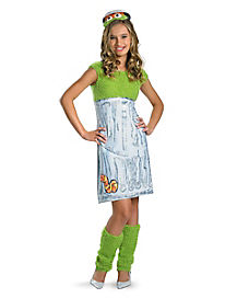 Tween Oscar the Grouch Costume - Sesame Street