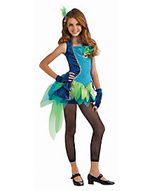 Tween Blue Peacock Costume