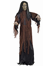 6 ft Standing Zombie Girl - Decorations