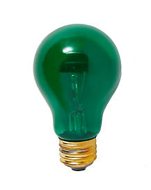 Green Color Light Bulb