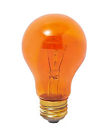 Orange Color Light Bulb