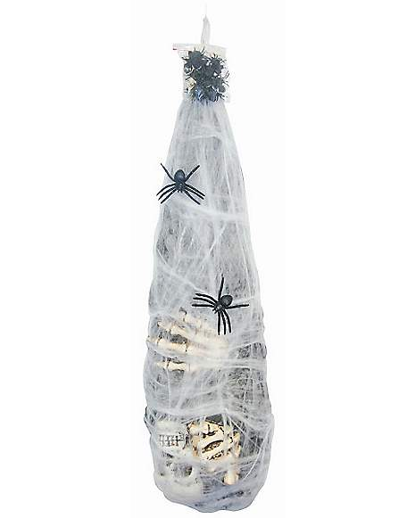Cocoon Mummy With Spiders Decorations