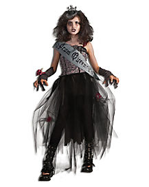 Kids Gothic Prom Queen Zombie Costume