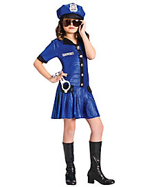 Kids Police Dress Costume