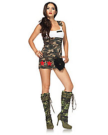 Combat Cutie Adult Womens Costume