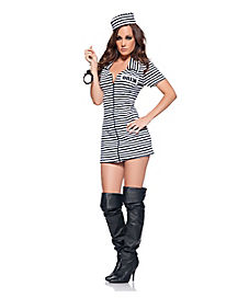 Miss Behaved Prisoner Adult Womens Costume