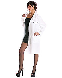 Adult Dr. Ophelia Cumming Lab Coat Costume