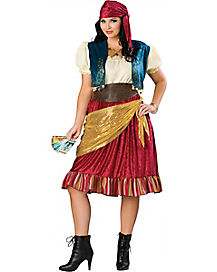 Adult Fortune Teller Gypsy Plus Size Costume