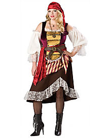 Deckhand Darling Adult Womens Plus Pirate Costume