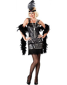 Flirty Flapper Adult Womens Costume