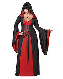 Hooded Red Robe Deluxe Adult Womens Plus Size Costume