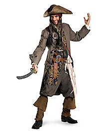 Pirates of the Caribbean Captain Jack Sparrow Theatrical Adult Mens Costume