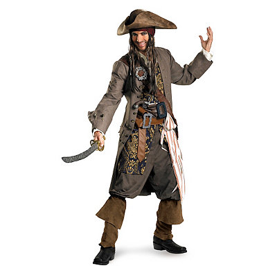 Pirates of the Caribbean Captain Jack Sparrow Theatrical Adult Mens Co