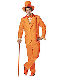 Adult Orange Tuxedo Lloyd Christmas Costume Deluxe- Dumb and Dumber