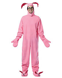Christmas Story Pink Bunny Pajamas Adult Costume