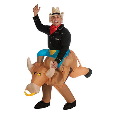 Bull Rider Inflatable Adult Mens Costume