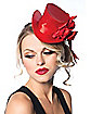 Satin Red Top Hat Adult Women's