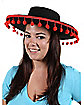 Spanish Ball Fringe Black Hat