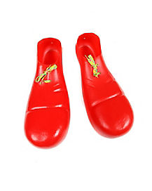 Clown Adult Red Shoes