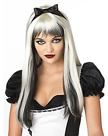 White and Black Enchanted Tresses Wig