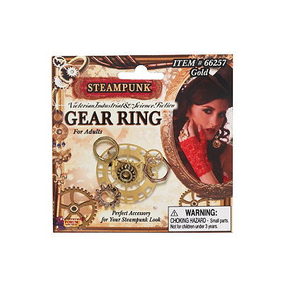 Vintage Inspired Halloween Costumes Gear Steampunk Ring $3.99 AT vintagedancer.com