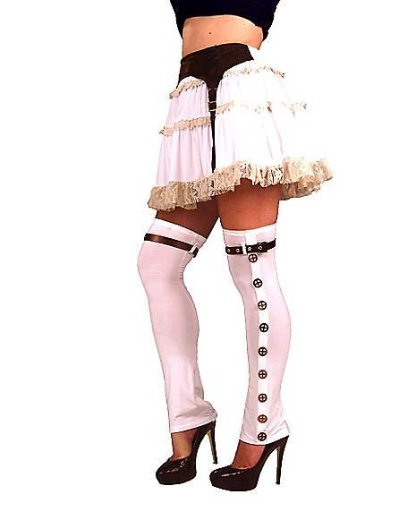 steampunk buckled thigh high boot covers spirithalloweencom