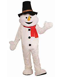 Snowman Mascot Adult Mens Costume