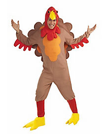 Turkey Jumpsuit Adult Costume